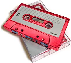 FYDELITY Blank Cassette Mixed Tape C-60 Audio 60-Min 10 Pack: Red Steel Chrome