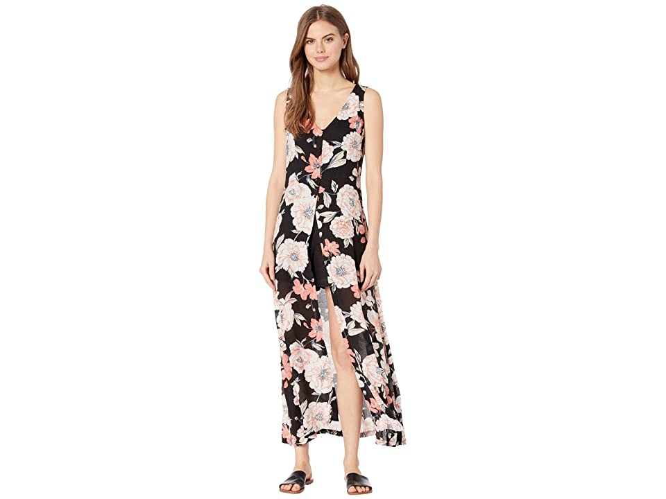 Roxy Flowers Crown Maxi Overlay Romper (Anthracite New Flowers) Women