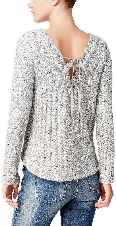 Chelsea sky Women's LaceUp Sweater