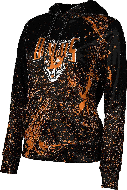 Buffalo State College Girls' Pullover Hoodie, School Spirit Sweatshirt (Splatter)