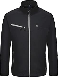 Little Donkey Andy Men's Softshell Jacket with Removable Hood, Fleece Lined and Water Repellent