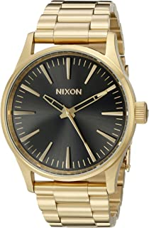 Nixon Men's A4501604 Sentry 38 SS Analog Display Analog Quartz Gold Watch
