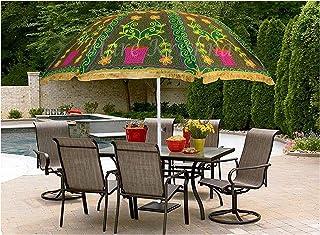 Indian Handmade Garden Umbrellas Outdoor Patio Decorative Parasols Outdoor Theme Wedding, Beach Sun Shade Parasols Large Umbrellas