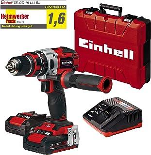 comprar comparacion Einhell TE-CD 18 Li-i BL Power-X-Change - Taladro percutor inalámbrico 18V con 2 baterías (2Ah), cargador y maletín, sin e...