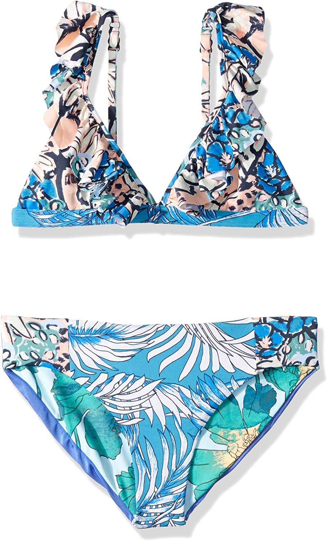 Maaji Girls' Fixed Triangle with S Surprise price Excellence Ruffle Straps Swimsuit Bikini