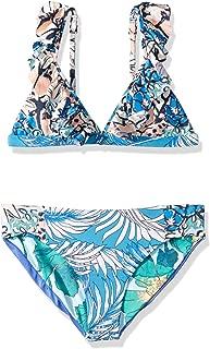 Maaji Girls' Fixed Triangle with Ruffle Straps Bikini Swimsuit Set
