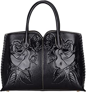 PIJUSHI Designer Floral Purse Women's Handbags Top Handle Satchel Tote Bags