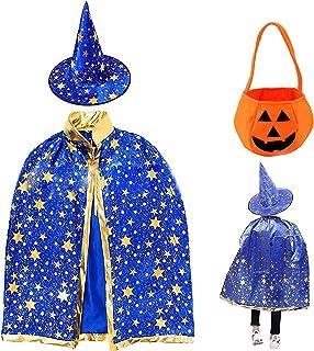 otutun Cape du magicien , Chapeau de magicien et Manteau de Sorcière , Chapeau de Magicien avec Chapeau Cape Wizard pour E...