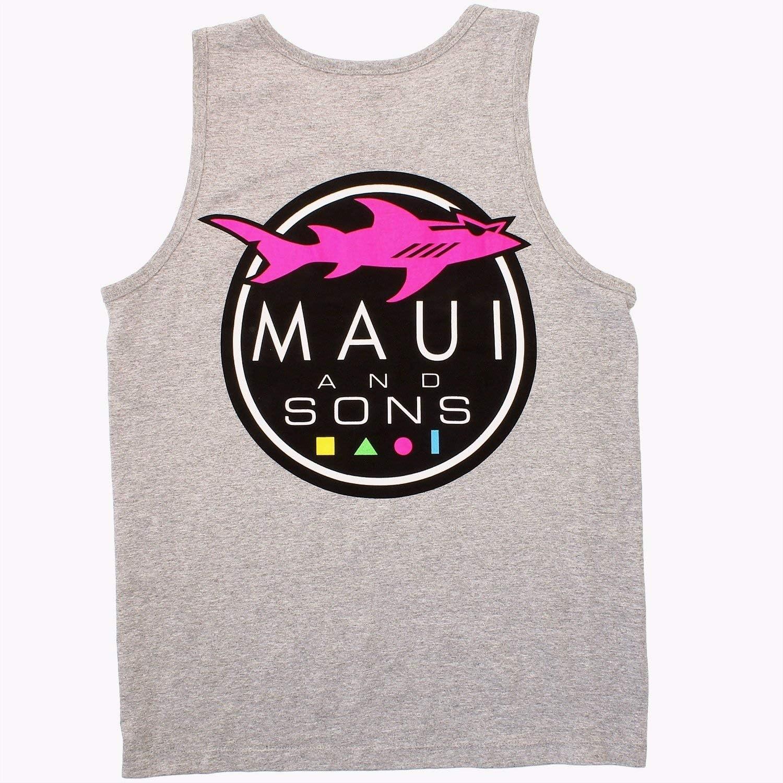Ranking TOP16 Maui Sons Men's Classic Tank Top Logo Shark Max 69% OFF