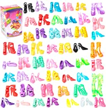 Colors of Rainbow 50 Pairs Different High Heel Shoes Boots Accessories for Barbie Doll
