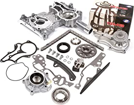 Fits 85-95 Toyota 2.4 SOHC 8V 22R 22RE 22REC High Performance Heavy Duty Timing Chain Kit w/Timing Cover Oil Pump GMB Water Pump