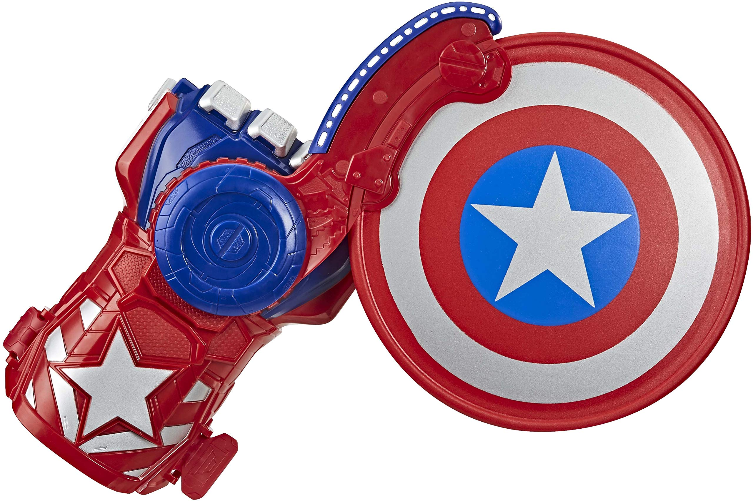 Avengers NERF Power Moves Marvel Captain America Shield Sling NERF Disc-Launching Toy for Kids Roleplay, Toys for Kids Ages 5 and Up