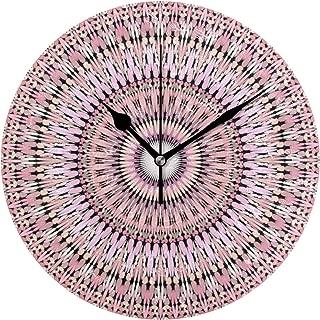 MIKA ピンク 万華鏡 ように千変万化するパターン 庭 曼荼羅 掛け時計 置き時計 アナログ 時計 壁掛け時計 インテリア 雑貨 おしゃれ 掛時計 とけい クロック 置掛兼用 卓上 置き掛け ウォールクロック