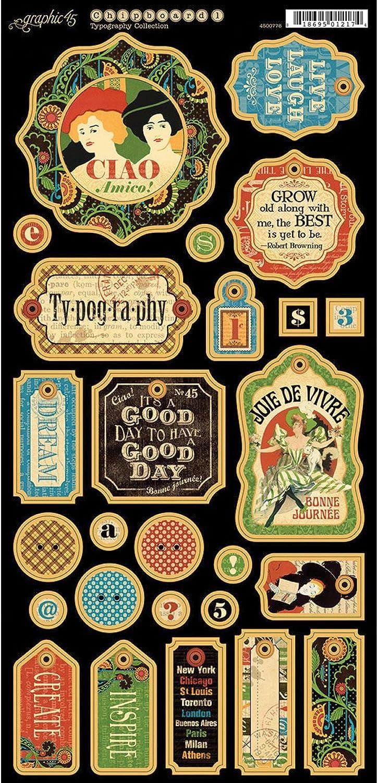 Graphic 45 Typografie Spanplatte B00E00TDLI       | Elegantes Aussehen  943683