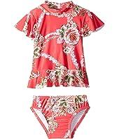Little Village Como Short Sleeve Rashie Set (Infant/Toddler/Little Kids)