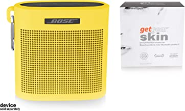 getgear Tailor Made Silicon Cover for Bose SoundLink Color Bluetooth Speaker II, Safeguard from Shock, Shake and Scratch, Fully Cover with Sound Through Design (Yellow)