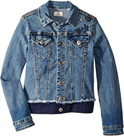 Denim/Twill Jacket with Embroidery (Big Kids)