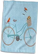3D Rose Birds on Bicycle TWL_186722_1 Towel, 15 x 22, Multicolor