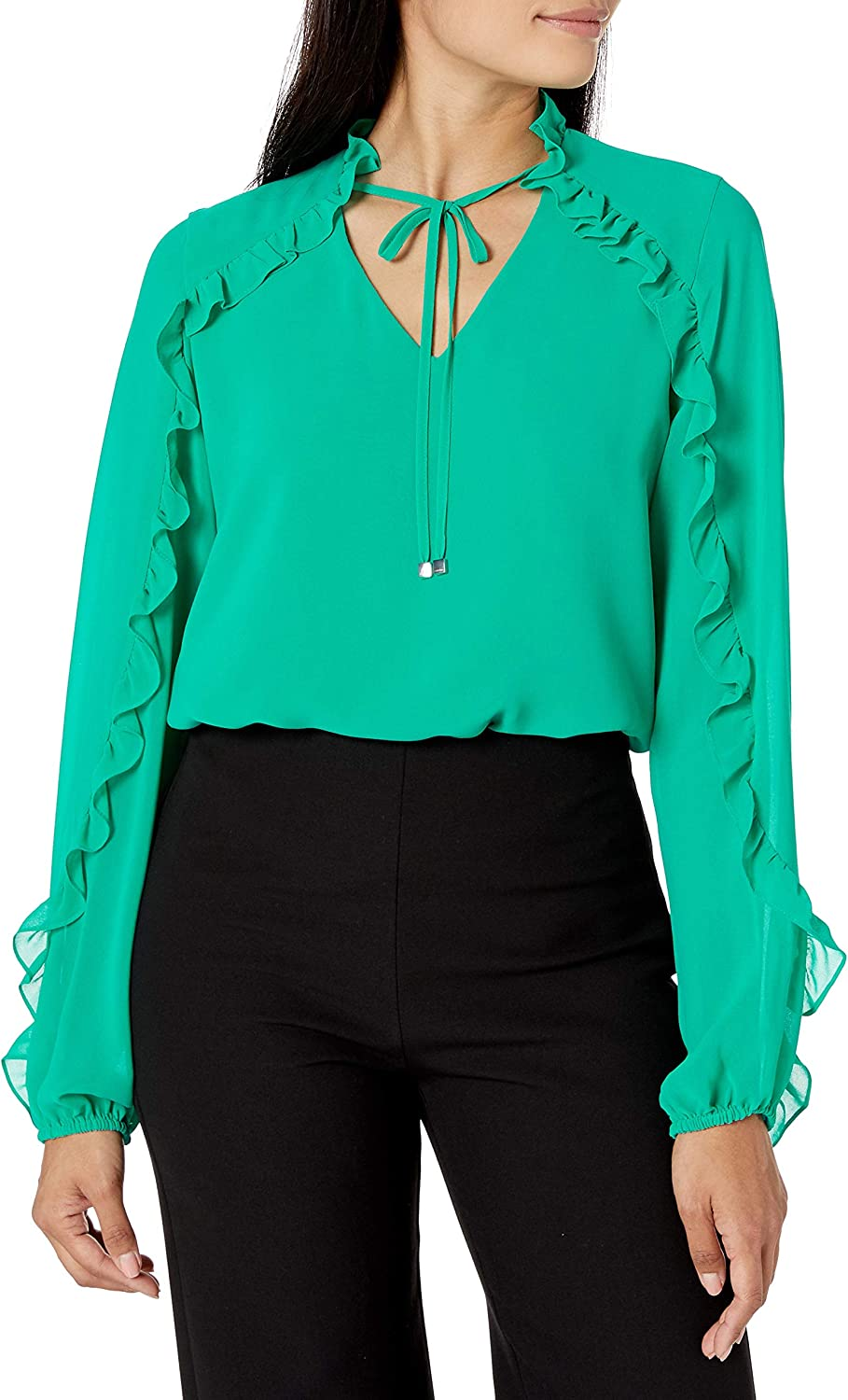New product!! Calvin Klein New arrival Women's Top Long Sleeve