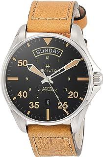 Hamilton - Reloj de pulsera HAMILTON para caballero en acero y cuero H64645531