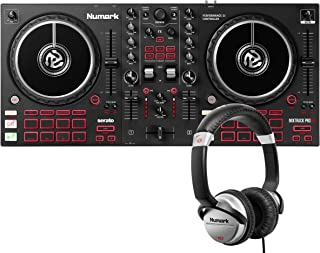 Numark Mixtrack Pro FX + HF125 – 2 Deck DJ Controller For Serato DJ with DJ Mixer, Built-in Audio Interface, and Professio...