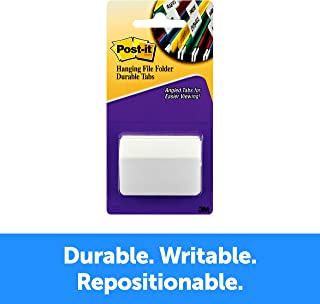 Post-it Tabs, 2-Inch Angled Solid, White, 50-Tabs/Pack (686A-50WH)