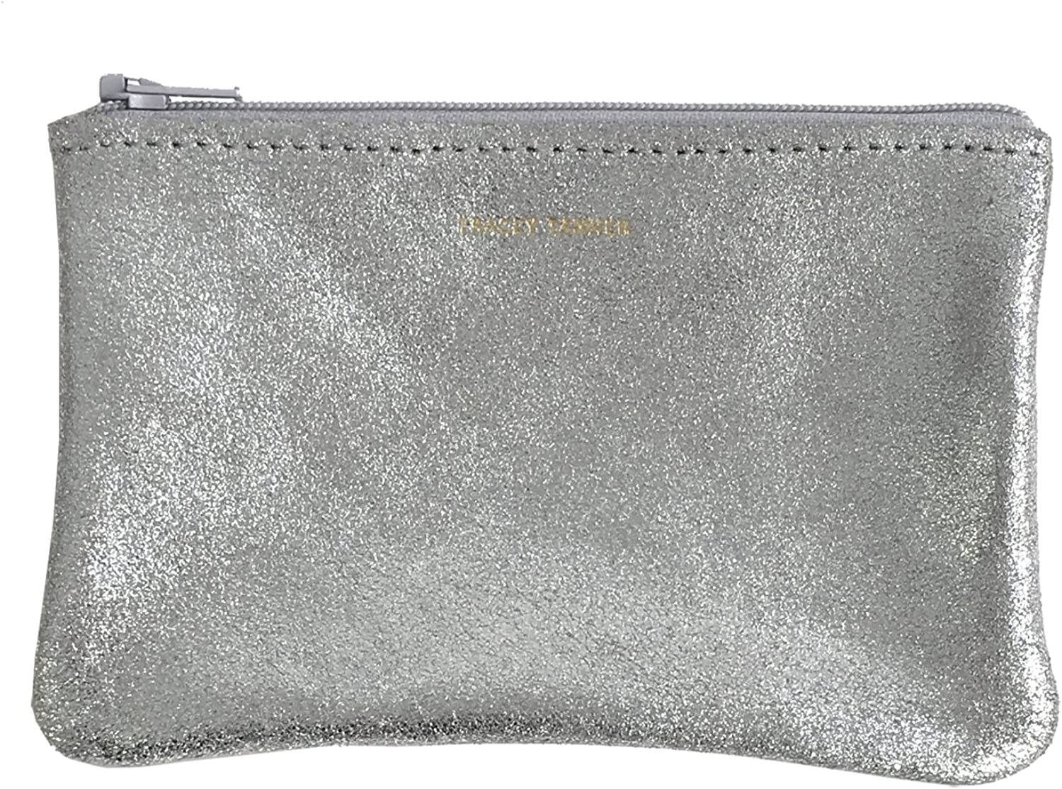 Tracey Tanner Zipper Top Pouch  Frost Sparkle