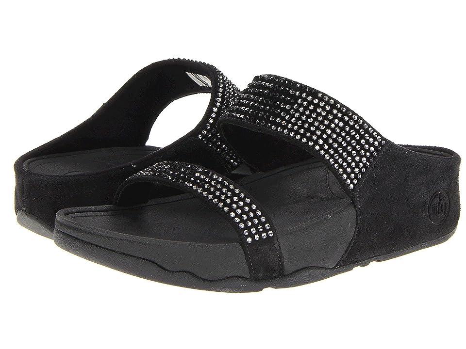FitFlop Flaretm Slide Leather (Black Leather) Women