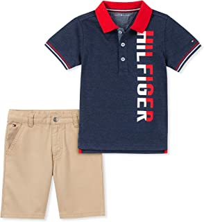 Tommy Hilfiger Baby Boys 2 Pieces Polo Shorts Set
