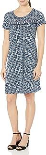 Lark & Ro Amazon Brand Women's Short Sleeve Scoop Neck T-Shirt Dress