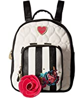 Betsey Johnson - Quilted Winged Heart Backpack