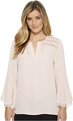 Ivanka Trump - Georgette Long Bell Sleeve Blouse