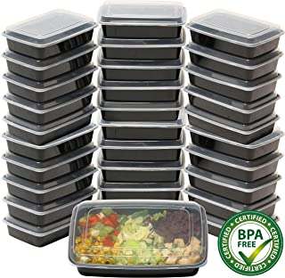 32 Pack - SimpleHouseware 1 Compartment Reusable Food Grade Meal Prep Storage Container Lunch Boxes, 28 Ounces