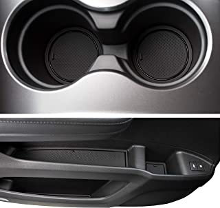 CupHolderHero for Honda Pilot 2016-Present Custom Fit Cup, Door, and Center Console Liners 31-pc Set (Solid Black)
