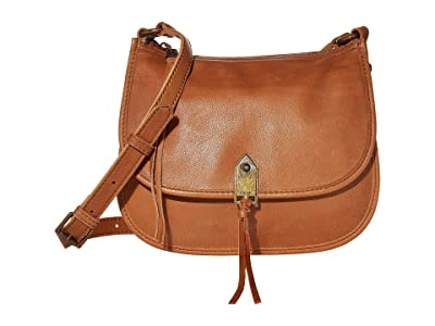 The Sak Playa Leather Saddle Bag (Tobacco) Handbags