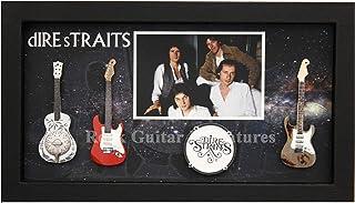 RGM9009 Dire Straits Colección de guitarra en miniatura en marco de caja de sombras