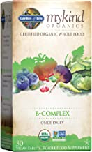 Garden of Life Mykind Organics Vitamin B Complex Once Daily, 30 Tablets, Vegan B Complex Vitamins with Folate, B12, Niacin...