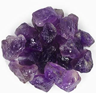 Hypnotic Gems Materials: 1 lb Amethyst Stones AAA Grade Large Chunk from Brazil - Raw Natural Rough Crystals for Cabbing, Tumbling, Lapidary, Polishing, Wire Wrapping, Wicca & Reiki Crystal Healing