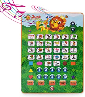 Just Smarty ABC Tablet Interactive Educational Toys for 3 Year Olds and Up | Toddler Learning Toys and Word Games for Development | Fun Activities, Numbers, Spell and Music on Pretend Kid Tablet