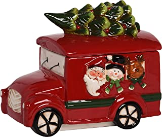 Transpac Dolomite Red Christmas Novelty Cookie Jar, One Size