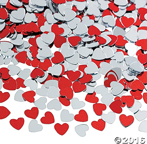 más descuento Metallic Foil rojo and plata Heart Heart Heart Confetti by FE  productos creativos