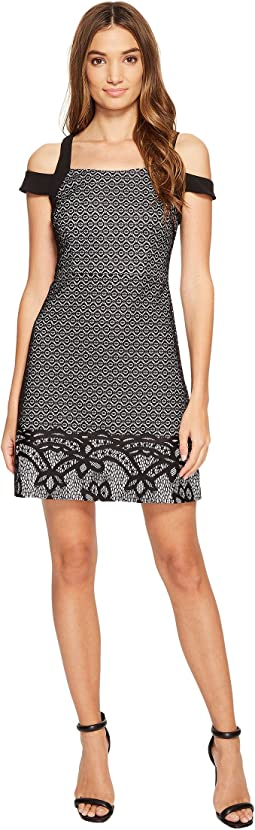 Border Deco Bonded Lace Dress