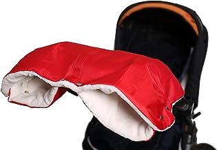 Baybino Handwärmer | Kinderwagen-Muff | Handschuhe | Warmes Innenfutter aus Lammfell-Imitat | Wasserfest & Winddicht | Für Kinderwagen oder Buggy von Hartan, Teutonia & Co. Rot