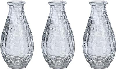 TTWD Juego de 3 jarrones pequeños de Cristal para decoración de Mesa de Boda