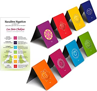 Chakra Magnetic Bookmarks in Spanish - Handy, Informative Bookmarks for Diaries, Journals, Books or as Collection (1.1 x 1...