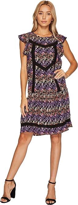 Butterfly Sleeve Lace Detail Dress