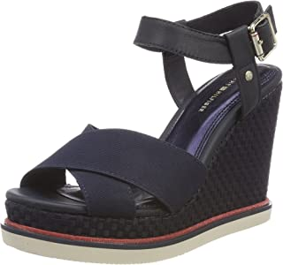 Tommy Hilfiger Sporty Stretch Wedge Corporate, Espadrilles Femme
