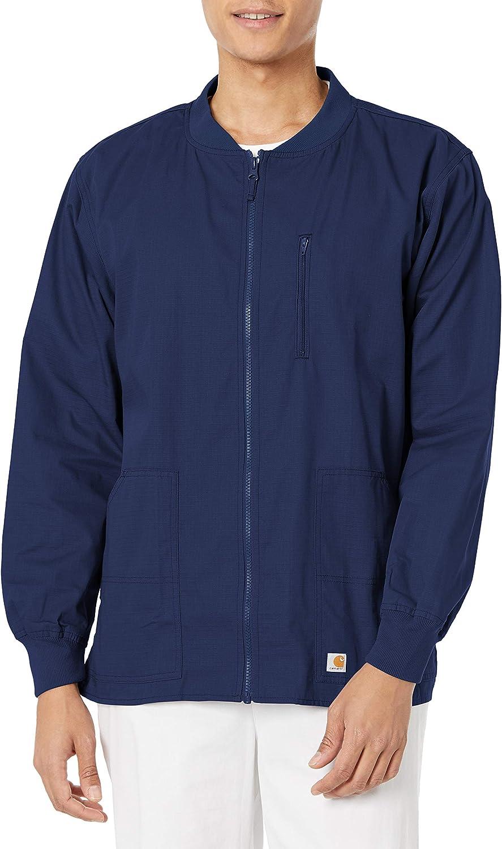 Carhartt Ripstop Men's Zip Scrub Daily bargain sale Front Bombing free shipping Jacket