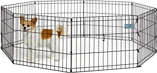 MidWest Homes for Pets Dog Exercise Pen & Playpen, 18-Inch, No Door, Black