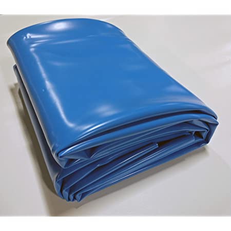 Fountains and Water Gardens Streams Blue Pond Liner 6 x 6 in 30-mil Blue PVC for Koi Ponds